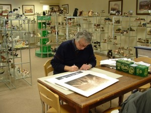 signing of prints at greys of shenstone 2009