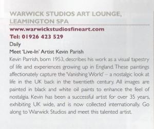 Warwick Studios Art Lounge, Leamington Spa, UK