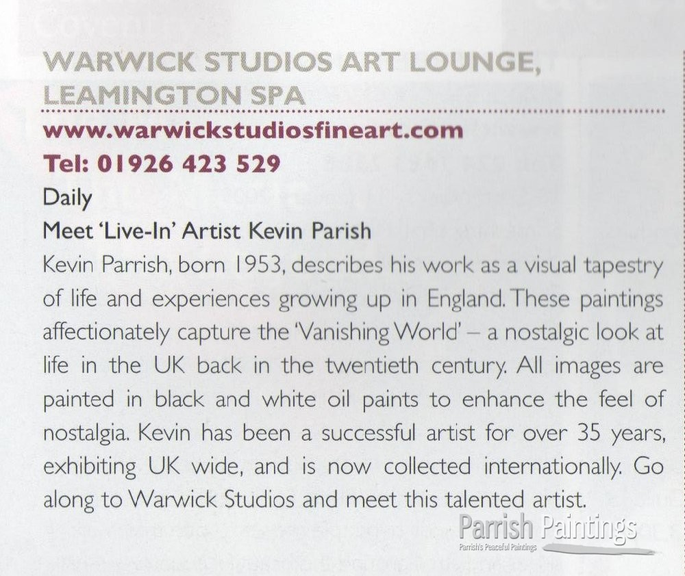 Warwick Studios Art Lounge, Leamington Spa, UK