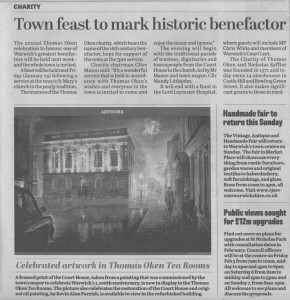 celebrated artwork in thomas oken tea rooms-warwick courier -jan 22 2016