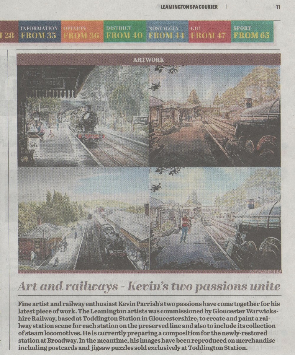 art and railways-kevins two passions unite courier fri aug 18 2017